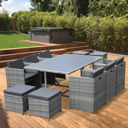 Outdoor Dining Set 10 Cube seater VASTO 10 Mix Grey