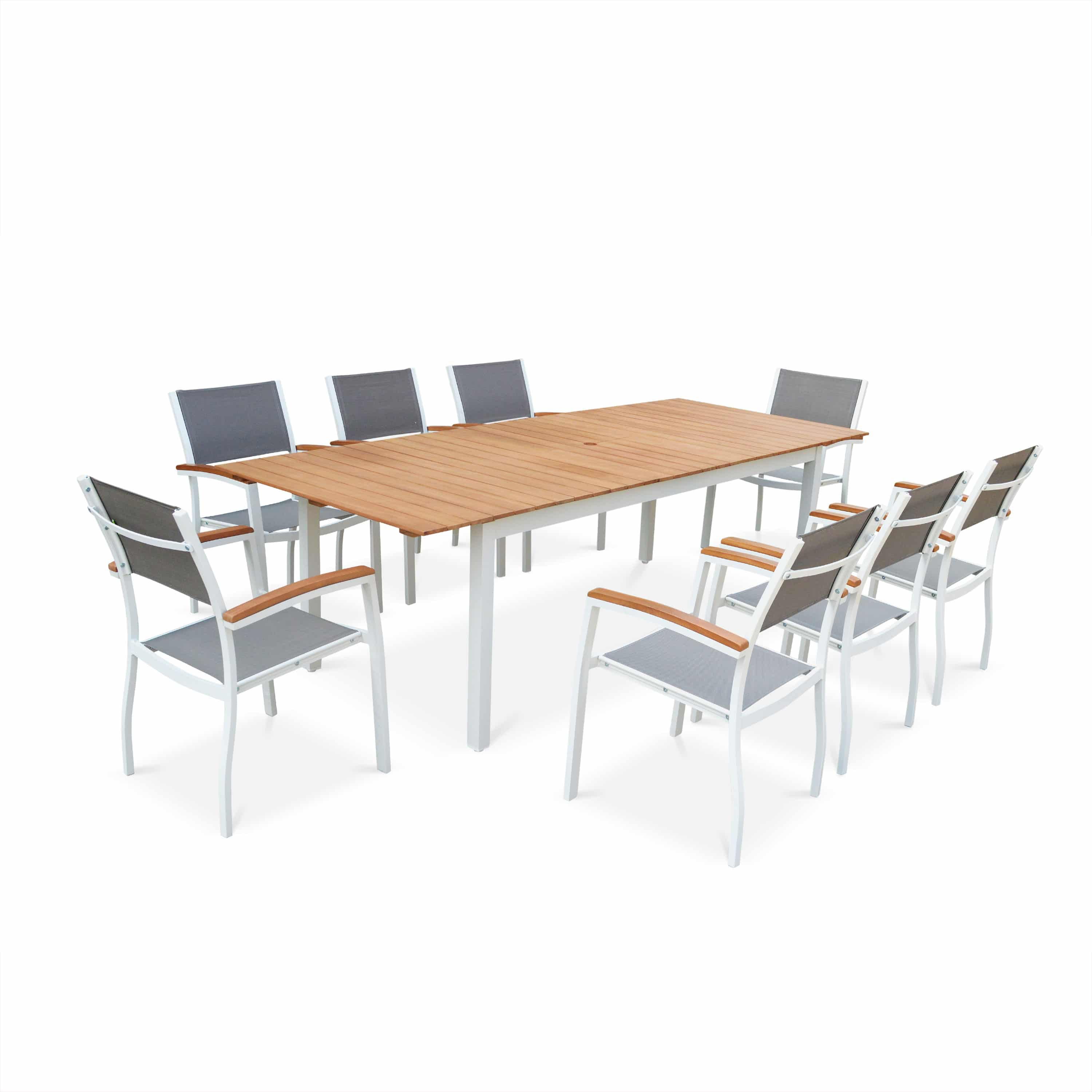Sevilla 8 Seater Dining Set Eucalyptus/White