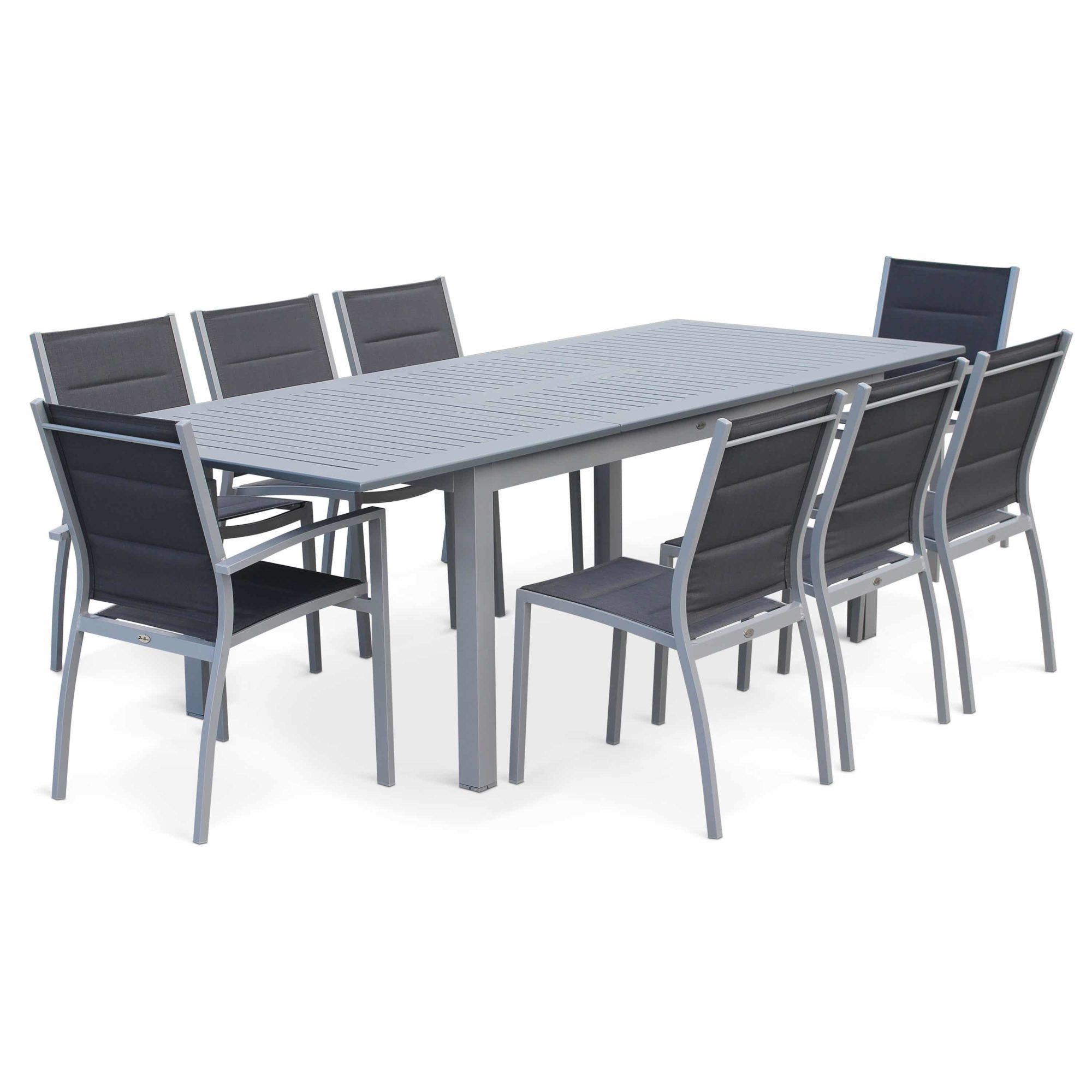 Outdoor Dining Set Alice's Garden 8-10 Seater 175/245cm Extending Dining Set Grey/Grey